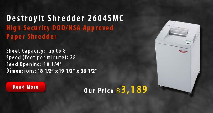 Destroyit Shredder 2604SMC